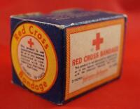 Vintage Red Cross Bandage Gauze Box Advertising
