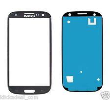 Front Glas für Samsung Galaxy S3 i9300 LCD front Glass Sceibe Schwarz + Kleber