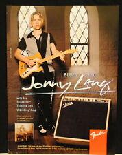 1997 Jonny Lang plays a Fender Telecaster thinline guitar VibroKing amp print Ad