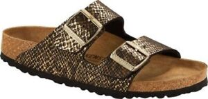 Birkenstock Arizona Shiny Python Black/Gold Sandals