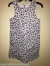 Gymboree Tres Fabulous Gray Black Leopard Cheetah Dress Size 4 NEW nwt