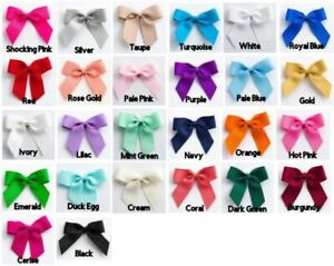 5cm Grosgain Ribbon Self Adhesive Pre Tied Bows 6 or 12 Pack Craft