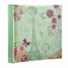 Effiel Tower Vintage Butterfly Slip In Memo Photo Album for 200 Photos - AL-9767