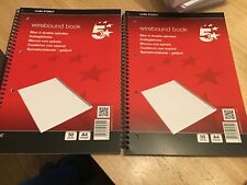 5 Star A4 Wirebound code 912947 Book x2