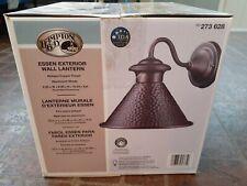 "Hampton Bay Essen Exterior Wall Lantern Antique Copper Finish 9"" X 6.75"" X 6"""