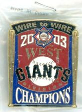 SF Giants 2003 Wire to Wire NL West Champions Pin #100 of 125 PSG San Francisco