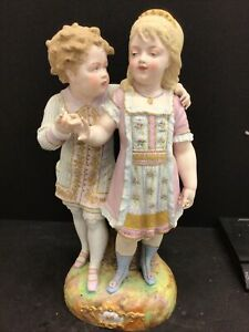 "Huge 20"" Antique Louis Philippe Depose Old Paris Bisque Porcelain Statue French"