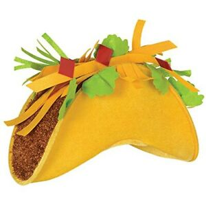 Taco Hat Mexican Food Fiesta Party Costume Cap Mexico Spanish Halloween