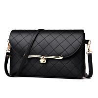 Elegant Diamond Lattice PU Handbags for Women Crossbody Shoulder Flap Bags