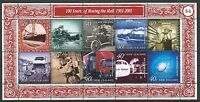 NEW ZEALAND 2001 MOVING THE MAIL  MINIATURE SHEET UNMOUNTED MINT, MNH