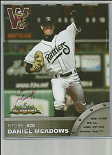 Daniel Meadows 2009 Wisconsin Timber Rattlers Midwest League Auto`Ed 8 X 10