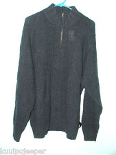 JOS. A. BANK SIGNATURE COLLECTION 1/4 ZIP SWEATER SIZE L DARK BLUE NWT