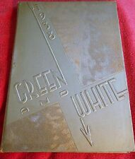 1938 INGLEWOOD HIGH SCHOOL YEARBOOK GREEN AND WHITE VINTAGE YEARBOOK