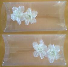 PILLOW SHAPE WRAP BOX,PLASTIC CLAEAR INVITATION BOX,48PCS