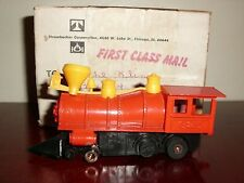 VINTAGE DX RED DIAMOND RED TRAIN ENGINE #325 STROMBECKER REPAIRED IN 1960'S RARE