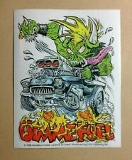 METALLICA GIMME FUEL MONSTER TRUCK FIRE WHITE Bike Helmet Board STICKER
