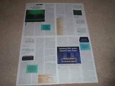 Legacy High-Current Amplifier Review, 1995, 4 pgs, Rare