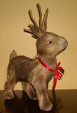 MARTHA STEWART HOLIDAY SISAL BROWN INTO THE WOODS CHRISTMAS REINDEER FIGURE