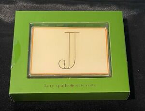 """Kate Spade by Lenox It's Personal ID Holder Letter """"J"""" Business Card Case Metal"""