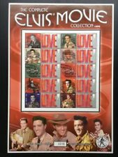 The Complete ELVIS PRESLEY Movie Collection 1956-1961. Collectable Stamp Sheet.