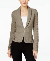INC International Concepts New Lace Blazer Taupe Size  M