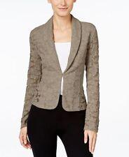 INC International Concepts New Lace Blazer Truffle Taupe Size L