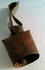 primitive iron cow bell country cattle cowbell jingle bell farm livestock strap