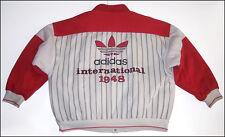 Rare vintage ADIDAS INTERNATIONAL 1948 Trefoil quilt lined warm up jacket ~ 2XL