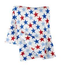 "Nautical American Star Throw Blanket 70"" x 50"" Nautical beach decor"