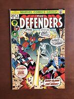 The Defenders #8 (1973) 7.5 VF Marvel Bronze Age Comic Book Silver Surfer App
