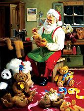 "Bearly Christmas  SANTAS WORKSHOP by  TOM BROWNING -500 pc  18"" x 24"" teddy bear"