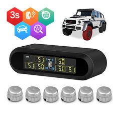 Car Wireless  Solar TPMS Tire Pressure Monitoring System + 6 Sensors Universal