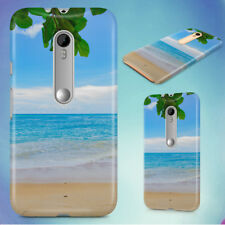 BEACH CALM CLOUDS HORIZON HARD BACK CASE FOR MOTOROLA PHONES