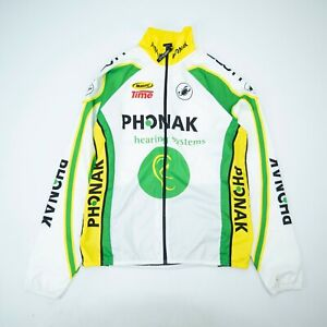 CASTELLI Mens Cycling Jacket Jersey PHONAK Mavic Green White Full zip size M