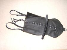 Straight jacket, Monoglove with straps costume party escapology suit, Leather