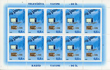 L'Azerbaigian 2016 MNH RADIO 90 anni & televisione 60 anni 10V M / S
