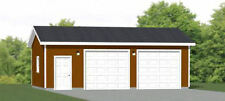 30x20 2-Car Garage -- 600 sq ft -- PDF Garage Plan -- 9ft Walls -- 1D Model