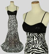 Hailey Logan $140 Black White Prom Formal Cruise Full Dress Size 1 Long Mermaid