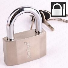 70mm HARDENED STEEL SHACKLE PADLOCK Heavy Duty Anti-Theft Large Outdoor Lock Up