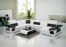 Leather Sofa Couch Interior Design Corner Set Modern G8014 New