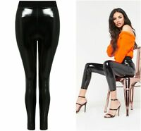 New Shiny Vinyl Faux Leather Stretch Leggings Wet Look PVC PU Trousers 8-14