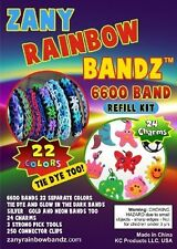 Zany Rainbow Bandz 6600 Band Refill Value Pack - The Biggest Refill Kit Reg $61