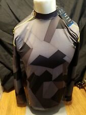 UNDER ARMOUR BLACK YELLOW COLD GEAR MOCK NECK COMPRESSION BASE LAYER SHIRT XL