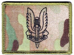 Army Australian SASR Insignia Patch on Multicam hook backing