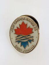 Vintage Jeux Canada Games 85 Saint John NB New Brunswick Pin Maple Leaf 1985