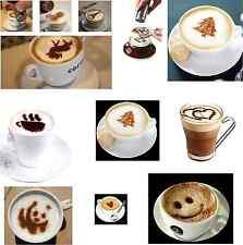12 PLANTILLAS MOLDES PARA DECORACIÓN CAFÉ CAPUCHINO