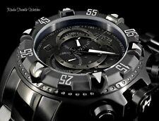Invicta RESERVE 52MM Excursion All Black Quartz Chronograph Black Bracelet Watch