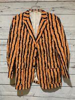 Vintage Princeton University 1942 Reunion Jacket Orange Black Stripes