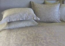 5 pc Peacock Alley Couture Scroll Queen Duvet Cover & Shams Set $795 Nip