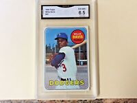 1969 TOPPS WILLIE DAVIS LOS ANGELES DODGERS CARD #65 - GRADED (6.5) EX-NMINT+